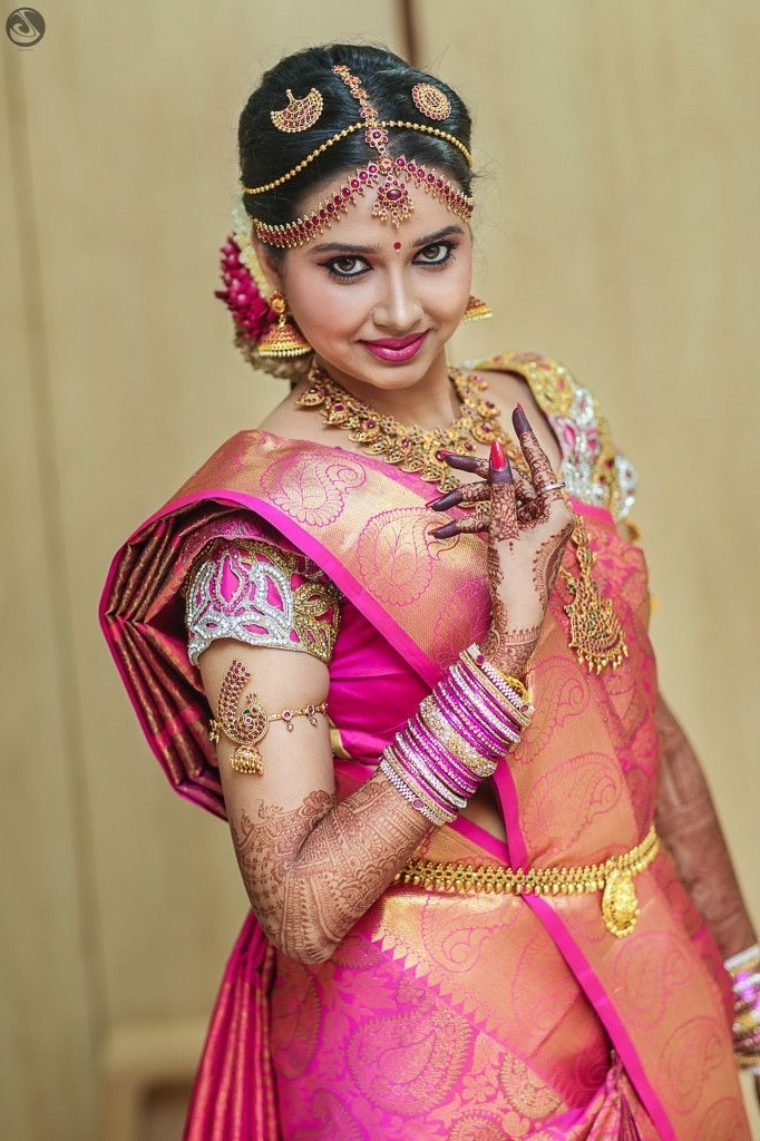 490 Best South Indian Brides Images On Pinterest | South Indian With South Indian Tamil Bridal Wedding Hairstyles (View 3 of 15)