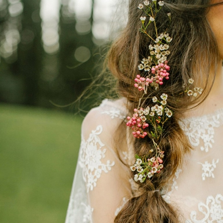 5 Wedding Hair Flower Ideas | Brides With Regard To Wedding Hairstyles With Flowers (View 5 of 15)