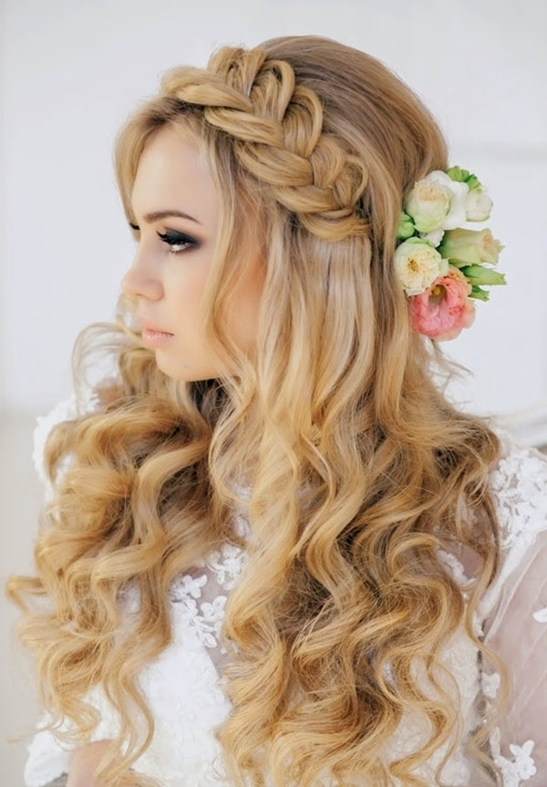 5 With It Boho Wedding Hairstyles For Real Beauties – Hairstylecamp Inside Boho Wedding Hairstyles (View 3 of 15)