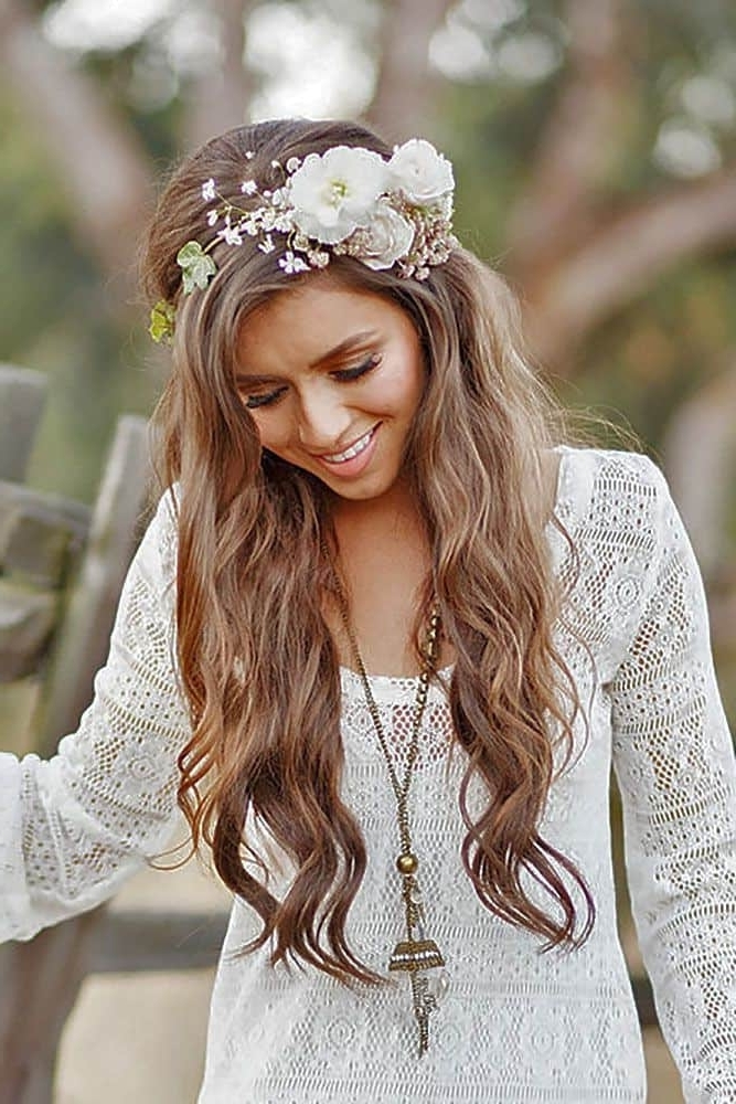 5 With It Boho Wedding Hairstyles For Real Beauties – Hairstylecamp Throughout Boho Wedding Hairstyles (View 10 of 15)