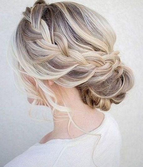 50 Amazing Updos For Medium Length Hair | Pinterest | Bridal Bun Within Wedding Hairstyles For Shoulder Length Layered Hair (View 2 of 15)