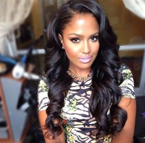 50 Best Eye Catching Long Hairstyles For Black Women | Pinterest Within Wedding Hairstyles For Long Relaxed Hair (View 6 of 15)