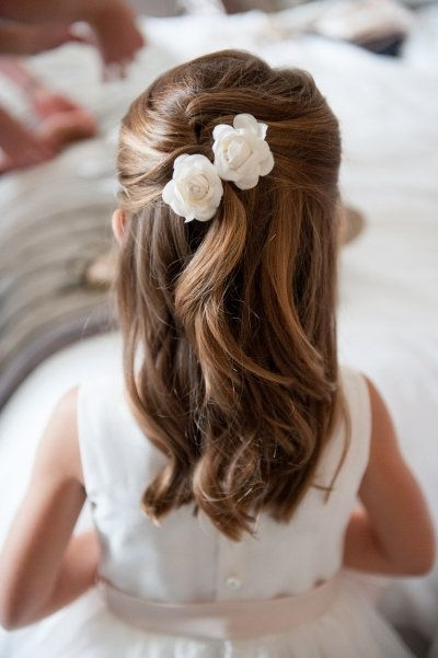 50 Best Flower Girls & Basket Ideas Images On Pinterest | Dresses Intended For Wedding Hairstyles For Young Bridesmaids (View 12 of 15)