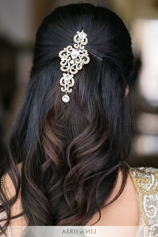 50 Best Indian Bridal Wedding Hairstyles Images On Pinterest For Simple Indian Wedding Hairstyles For Medium Length Hair (View 10 of 15)