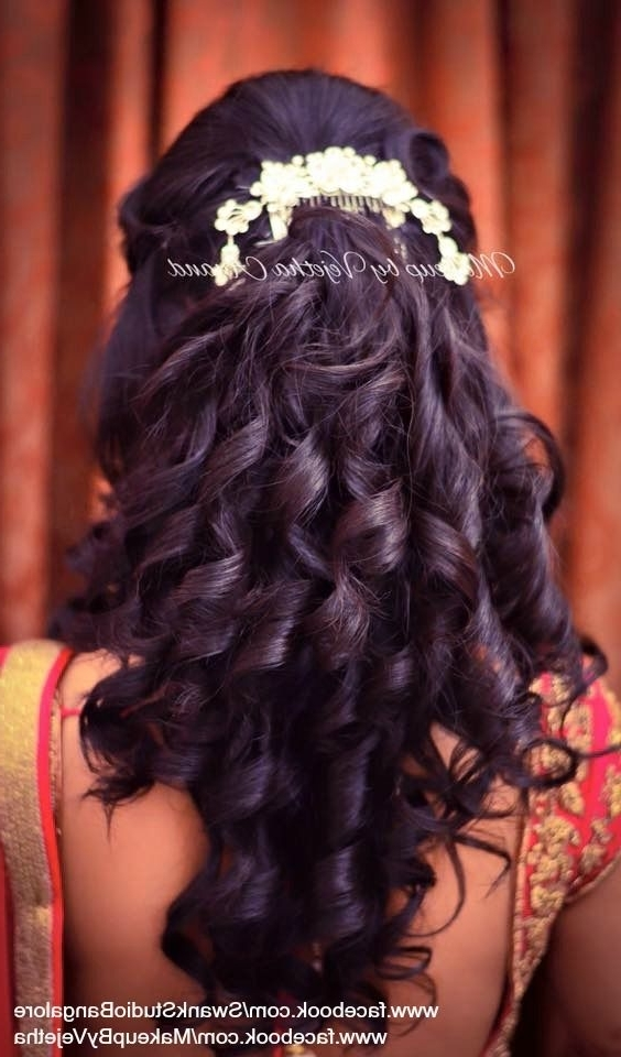 50 Best Indian Bridal Wedding Hairstyles Images On Pinterest Regarding Indian Wedding Reception Hairstyles For Long Hair (View 3 of 15)