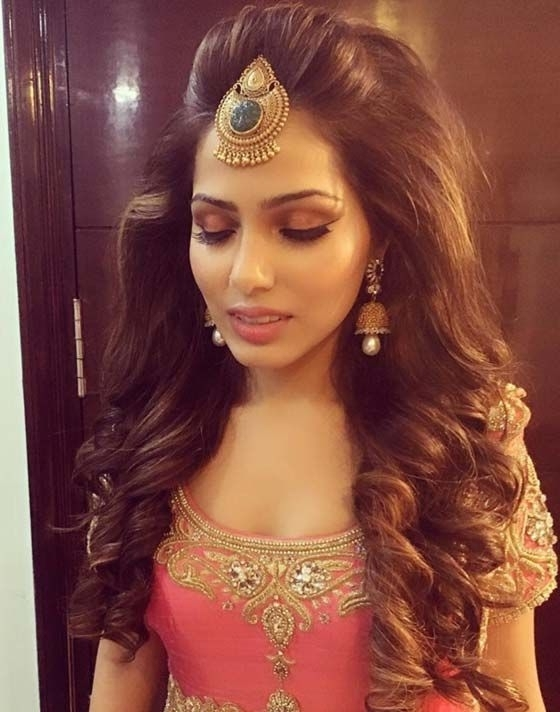 50 Best Indian Hairstyles You Must Try In 2018 | Pinterest | Indian Regarding Indian Wedding Reception Hairstyles For Long Hair (View 2 of 15)