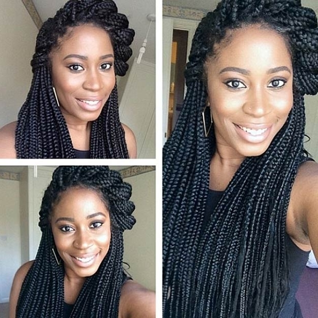 50 Box Braids Hairstyles That Turn Heads – Page 24 – Foliver Blog In Wedding Hairstyles With Box Braids (View 3 of 15)
