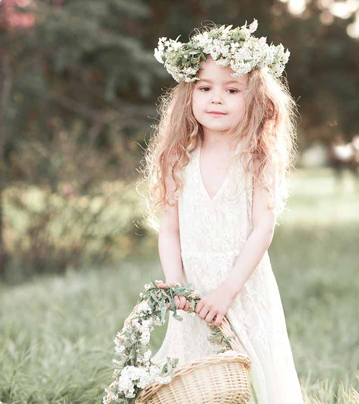 50 Easy Wedding Hairstyles For Little Girls In Wedding Hairstyles For Girls (View 14 of 15)