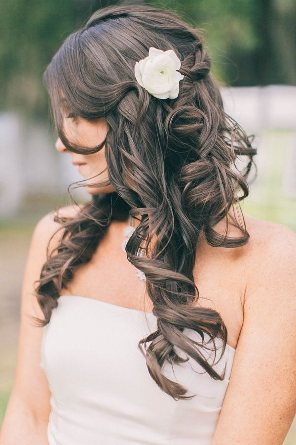 50 Simple Bridal Hairstyles For Curly Hair | Bridal Hairstyle, Curly With Simple Wedding Hairstyles For Long Curly Hair (View 4 of 15)