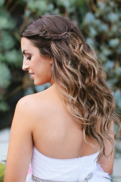 50 Simple Bridal Hairstyles For Curly Hair | Ombre, Brunettes And Honey Within Wedding Hairstyles With Ombre (View 5 of 15)