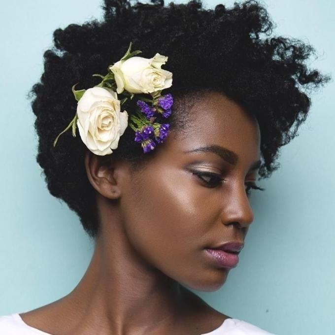 50 Superb Black Wedding Hairstyles | Natural Wedding Hairstyles Regarding Wedding Hairstyles For Short Natural Black Hair (View 4 of 15)