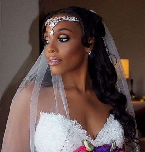50 Superb Black Wedding Hairstyles | Pinterest | Black Hairstyles Inside Black Wedding Hairstyles (View 6 of 15)