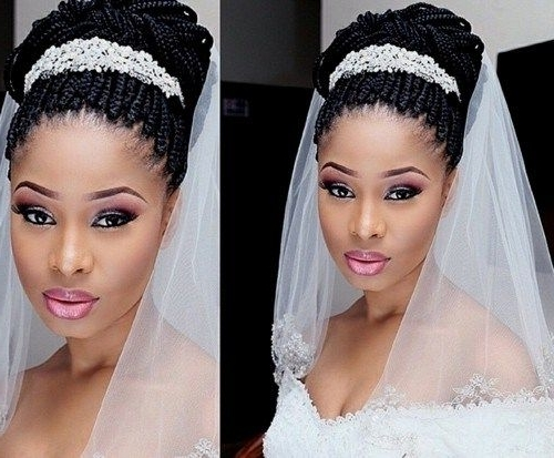 50 Superb Black Wedding Hairstyles | Pinterest | Box Braids Updo Pertaining To African Wedding Braids Hairstyles (View 1 of 15)