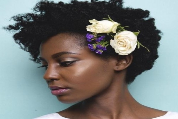 50 Superb Black Wedding Hairstyles | Wedding Hairstyles For Short Inside Wedding Hairstyles For Short Kinky Hair (View 8 of 15)