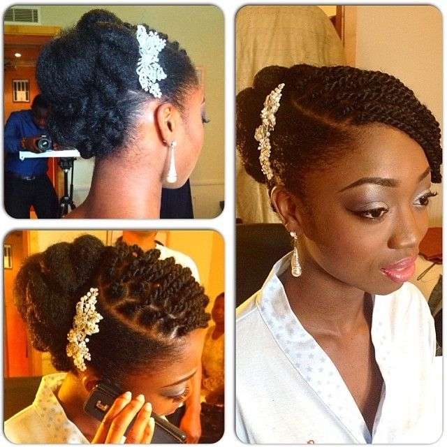 578 Best Wedding Hairstyles | Locs, Braids & Twists Images On With Regard To Wedding Hairstyles For Natural Afro Hair (View 6 of 15)