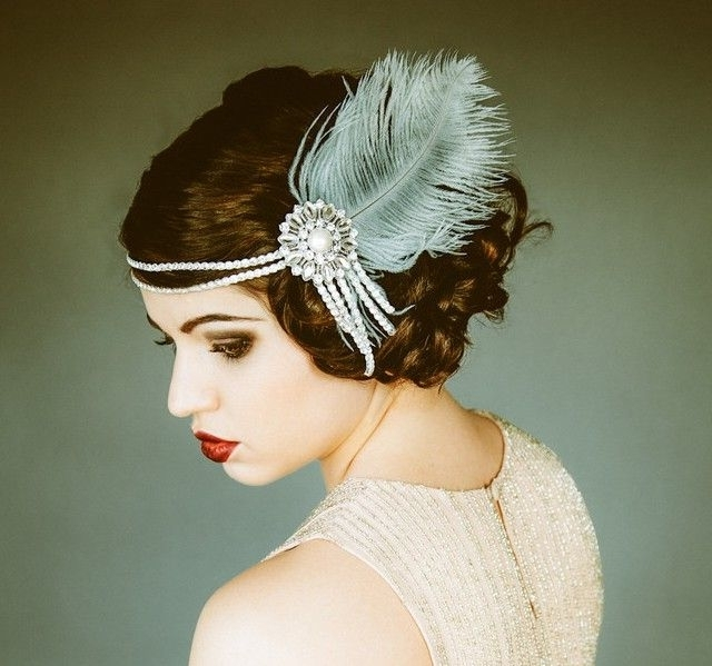 58 Best 1920S Hair Images On Pinterest | Roaring 20S, Flapper Intended For Wedding Hairstyles To Match Your Dress (View 10 of 15)
