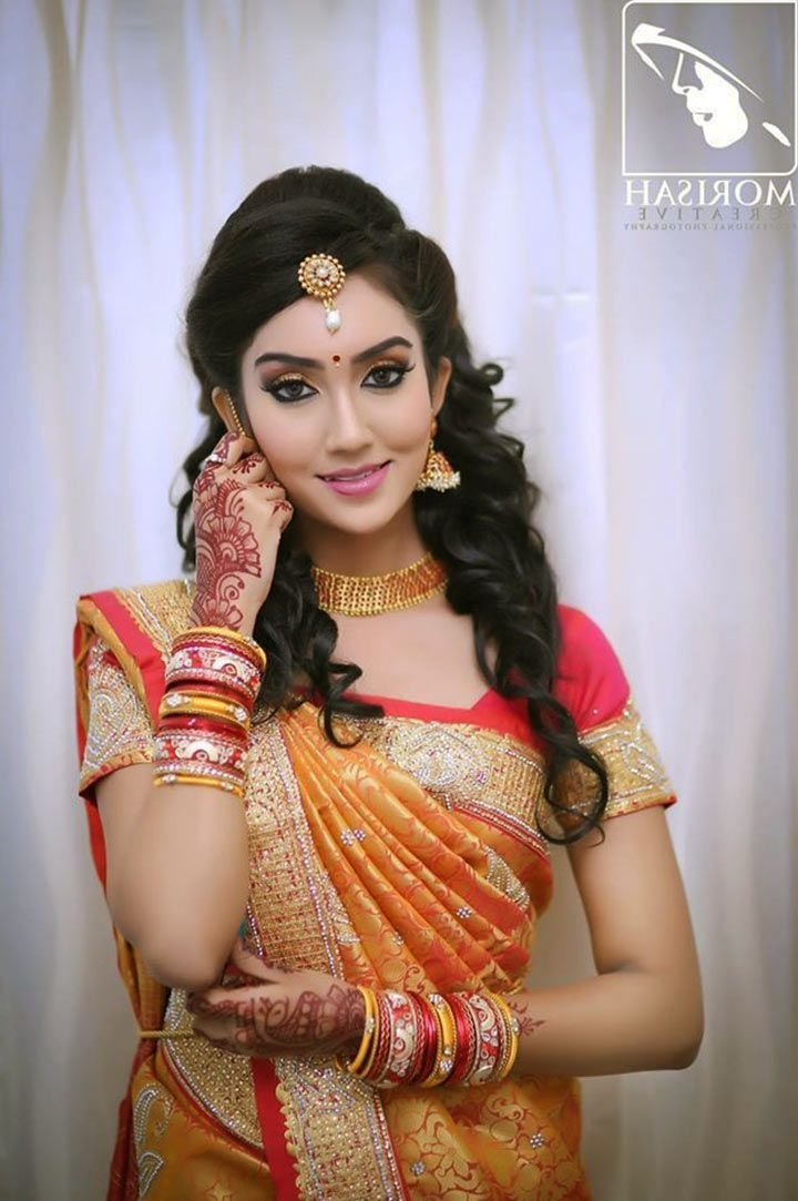 59 Best South Indian Bridal Makeup Images On Pinterest In South Indian Tamil Bridal Wedding Hairstyles (View 11 of 15)