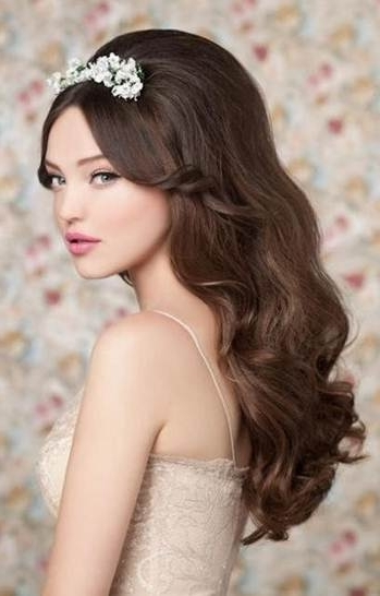 6 Artistic Wedding Hairstyles For Long Hair | Hairstylescut Inside Wedding Hairstyles For Long Hair Down With Tiara (View 7 of 15)