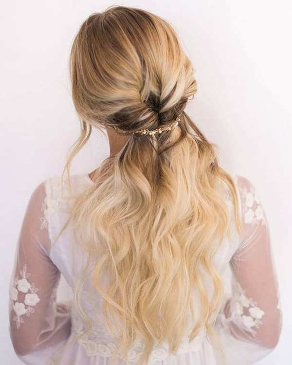 Photos Of Half Up Wedding Hairstyles For Bridesmaids Showing 7 Of