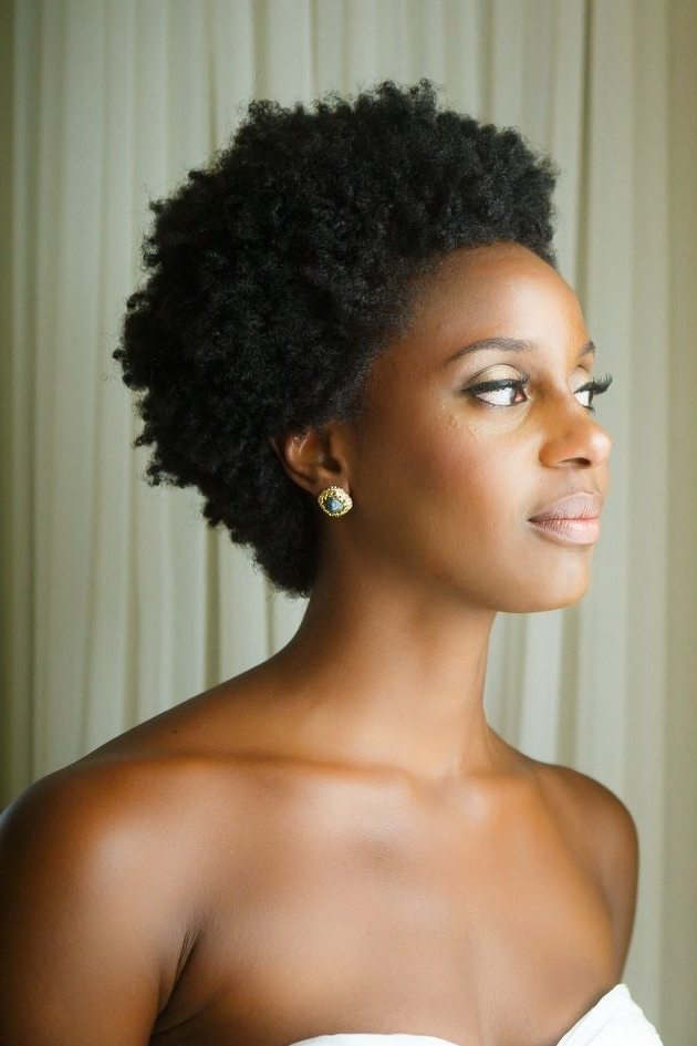 60 Best Short Haired Brides Images On Pinterest | Bridal Hairstyles In Wedding Hairstyles For Short Natural Black Hair (View 6 of 15)