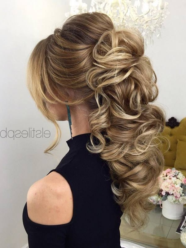 60 Perfect Long Wedding Hairstyles With Glam   Deer Pearl Flowers In Long Wedding Hairstyles (View 3 of 15)