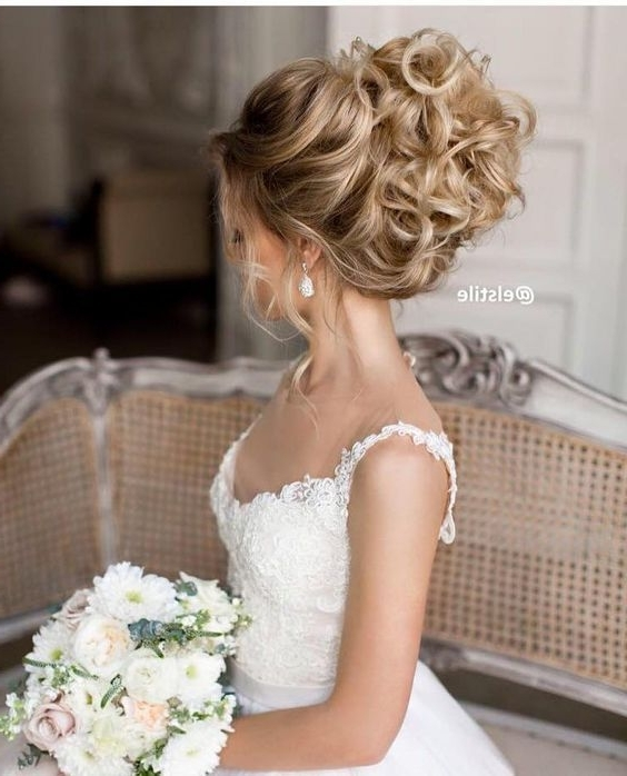 60 Perfect Long Wedding Hairstyles With Glam | Pinterest | Updo Intended For Wedding Updos Hairstyles (View 5 of 15)