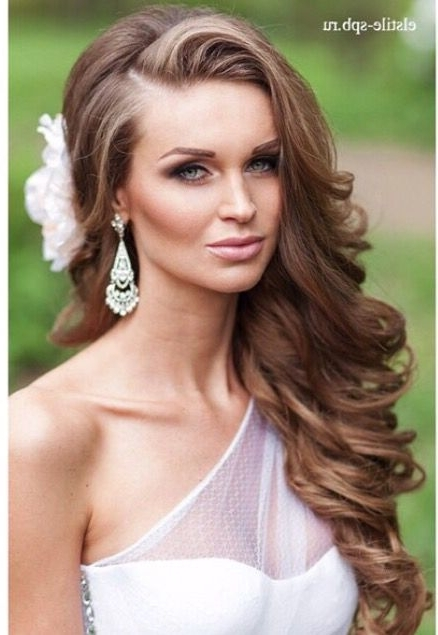 60 Perfect Long Wedding Hairstyles With Glam | Pinterest | Weddings Within Down To The Side Wedding Hairstyles (View 6 of 15)
