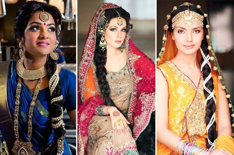 60+ Traditional Indian Bridal Hairstyles For Your Wedding Intended For Braided Hairstyles For Long Hair Indian Wedding (View 6 of 15)