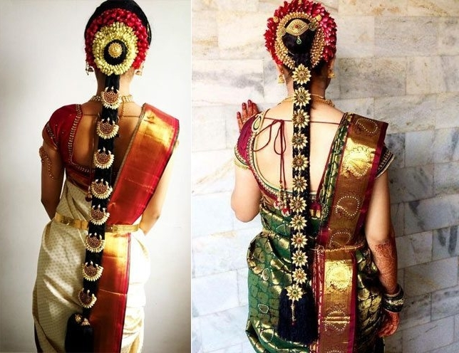 60+ Traditional Indian Bridal Hairstyles For Your Wedding With Regard To Wedding Hairstyles For Indian Bridal (View 5 of 15)