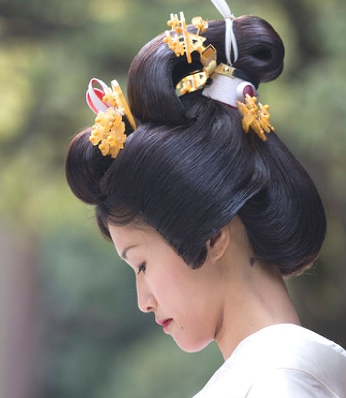 62 Best Japanese Traditional Hairstyles Images On Pinterest Intended For Japanese Wedding Hairstyles (View 7 of 15)