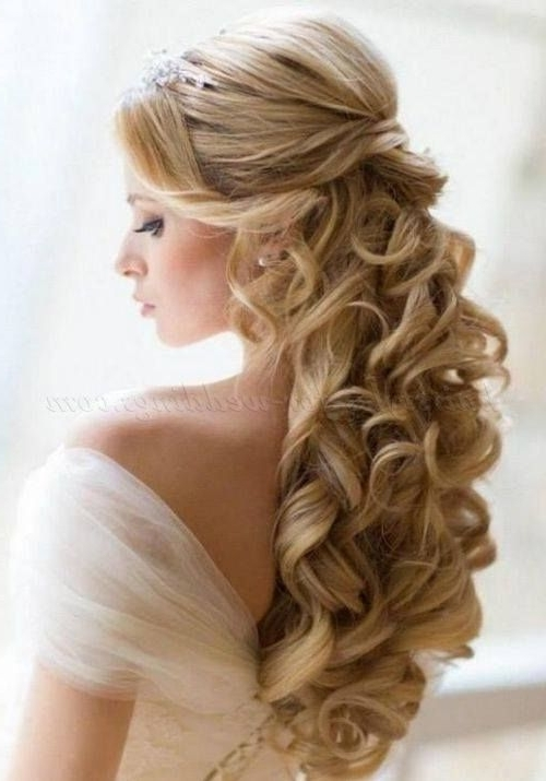 63 Perfect Hairdo Ideas For A Flawless Wedding Hairstyle With Veil Intended For Wedding Hairstyles For Long Hair Down With Tiara (View 8 of 15)