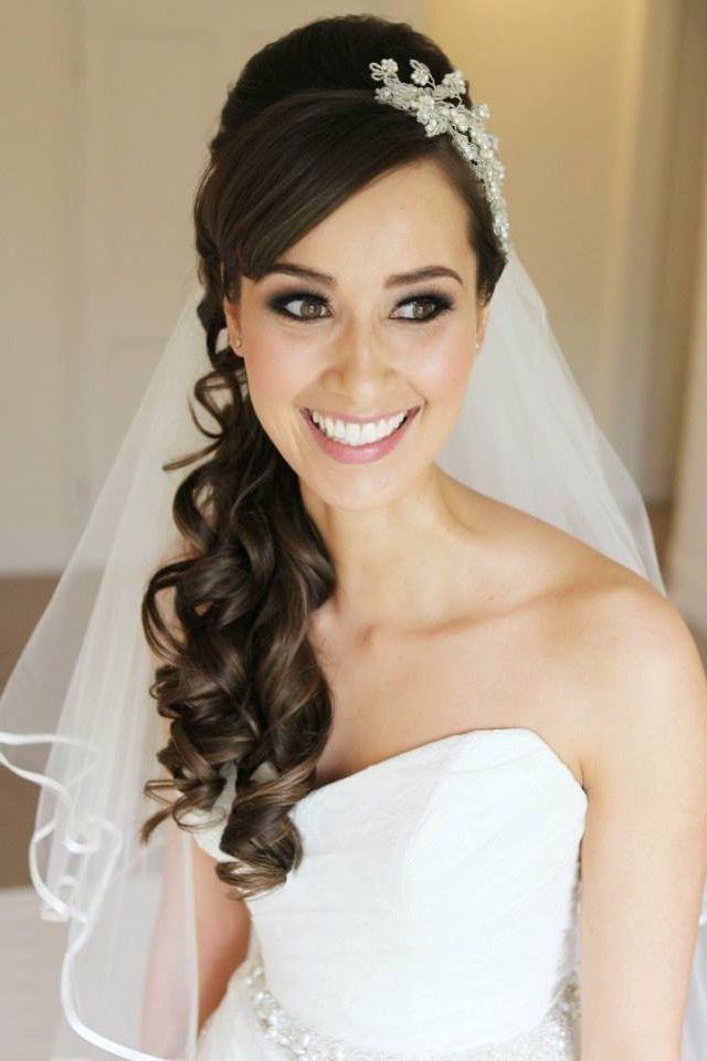 65 Half Up Half Down Wedding Hairstyles Ideas | Weddings, Bridal For Half Up Half Down With Fringe Wedding Hairstyles (View 5 of 15)