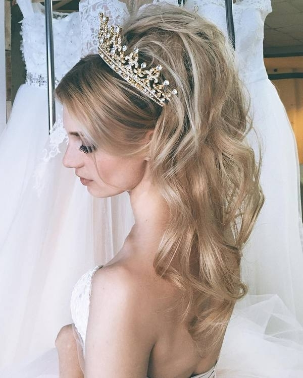 65 New Romantic Long Bridal Wedding Hairstyles To Try   Deer Pearl For Bridal Wedding Hairstyles (View 8 of 15)