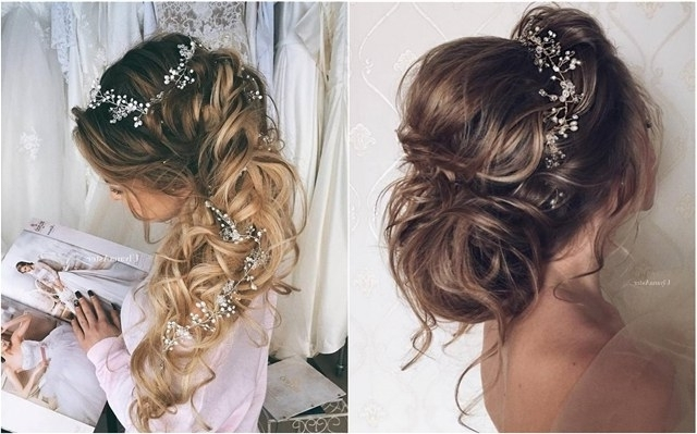65 New Romantic Long Bridal Wedding Hairstyles To Try | Deer Pearl Intended For Romantic Vintage Wedding Hairstyles (View 12 of 15)
