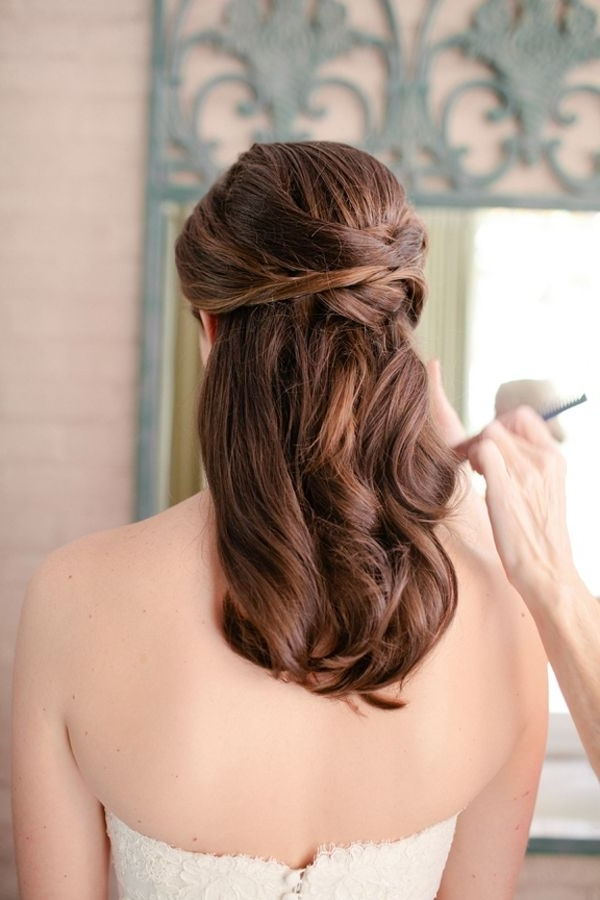 663 Best Wedding/bridal Hairstyles Images On Pinterest | Bridal With Regard To Wedding Hairstyles For Fine Hair Long Length (View 3 of 15)