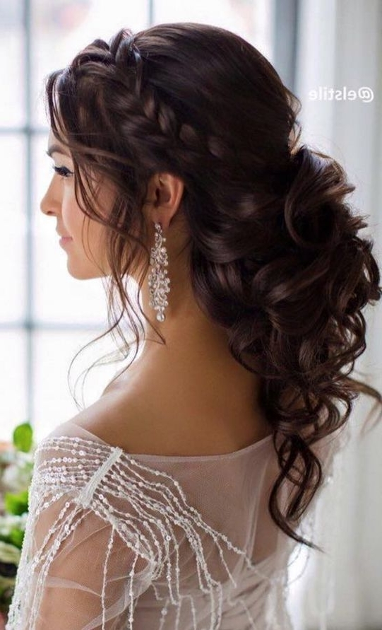 664 Best Wedding Hair Ideas Images On Pinterest | Bridal Hairstyles In Curly Hair Half Up Wedding Hairstyles (View 5 of 15)