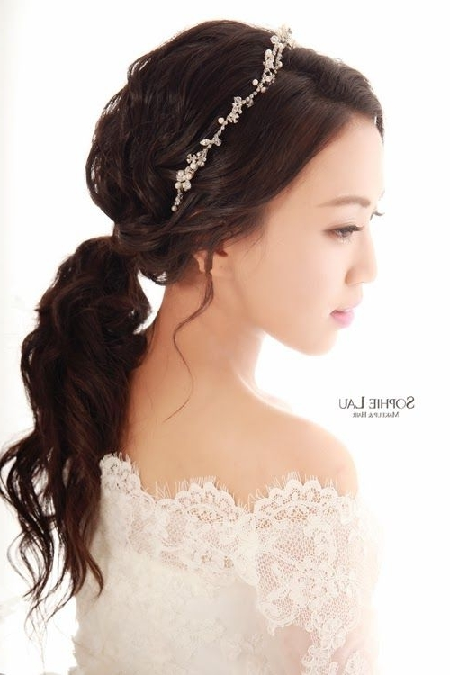 68 Best Sophie Lau Bridal Art Images On Pinterest | Wedding Hair For Korean Wedding Hairstyles For Long Hair (View 5 of 15)