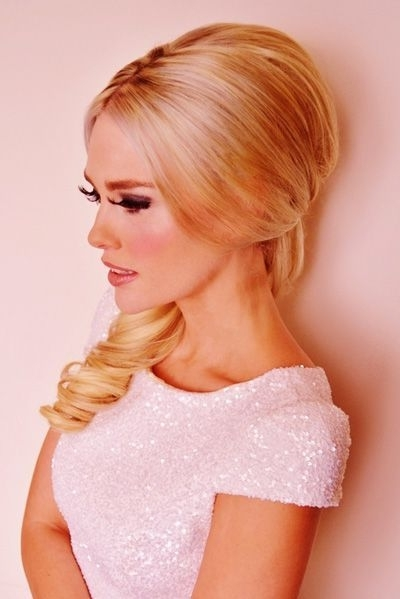 7 Best Sixties Images On Pinterest   Cabello Largo, Vintage Hair And For Bouffant Quiff Ponytail Wedding Hairstyles (View 15 of 15)