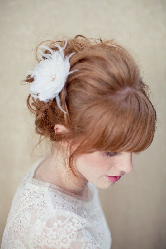 7 Best Up Dos Images On Pinterest | Cute Hairstyles, Hairdos And In Updos Wedding Hairstyles With Fascinators (View 2 of 15)