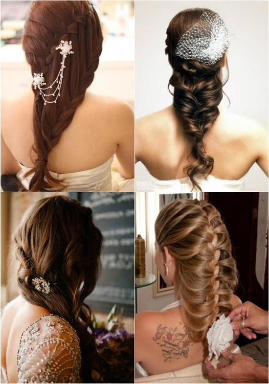 7 Braided Hairstyles For Wedding In Autumn 2013 – | Plaited Ponytail With Regard To Wedding Updos For Long Straight Hair (View 11 of 15)
