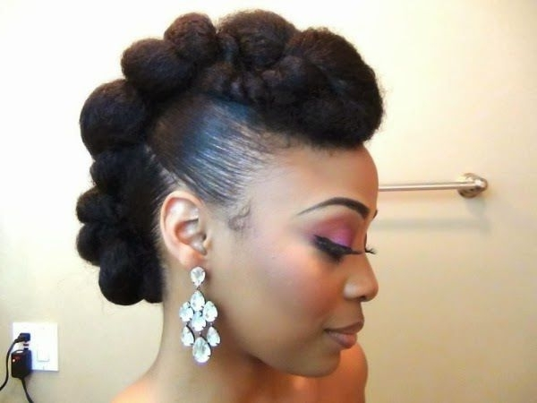 7 Pretty Perfect Natural Hairstyles For Black Brides | Black Bride In Wedding Hairstyles For Natural Afro Hair (View 10 of 15)