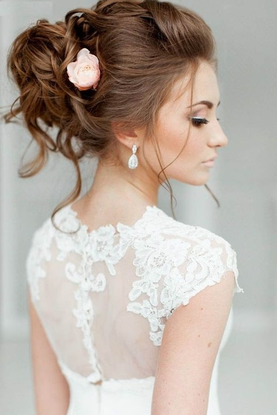 7 Pulled Back Wedding Hairstyles (6) – About Lifestyle & Life Issues For Pulled Back Wedding Hairstyles (View 6 of 15)