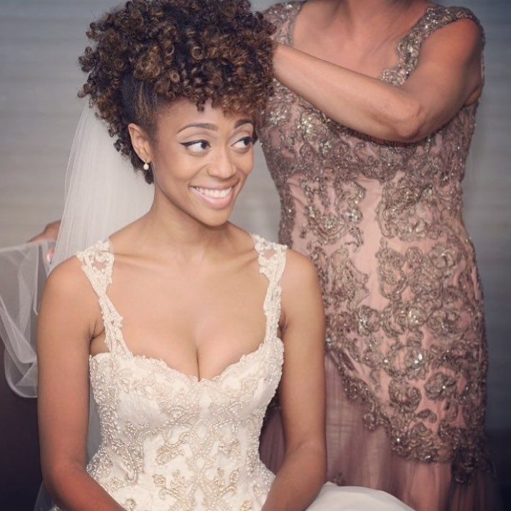 71 Best | Bridal Hairstyles | Images On Pinterest | African Regarding Wedding Hairstyles For Short Kinky Hair (View 9 of 15)