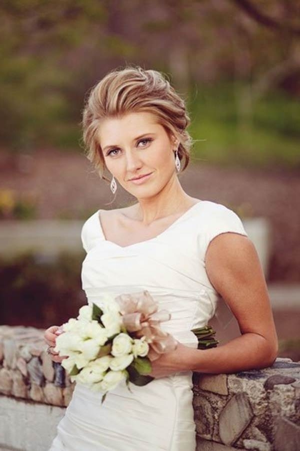 71 Wedding Hairstyles For Short, Medium & Long Hair – Style Easily Within Pulled Back Wedding Hairstyles (View 9 of 15)