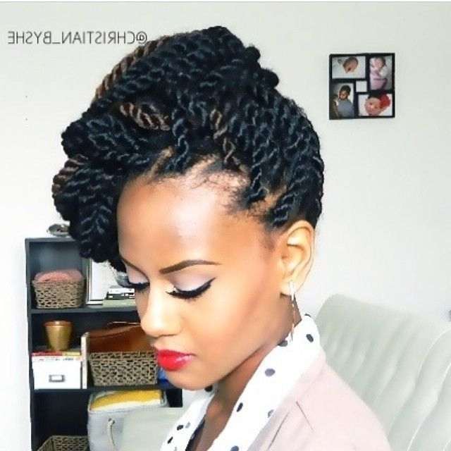 723 Best Curly Girl Hair Images On Pinterest | Natural Hair, African With Regard To Wedding Hairstyles With Kinky Twist (View 3 of 15)