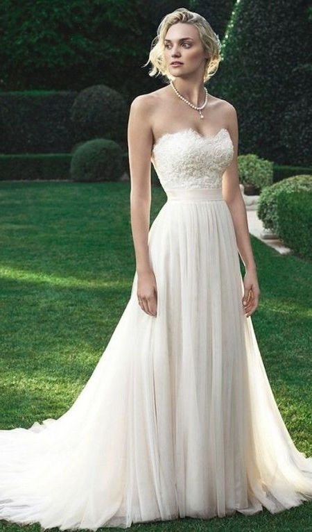 73 Unique Wedding Hairstyles For Different Necklines 2017 With Wedding Hairstyles For A Strapless Dress (View 6 of 15)