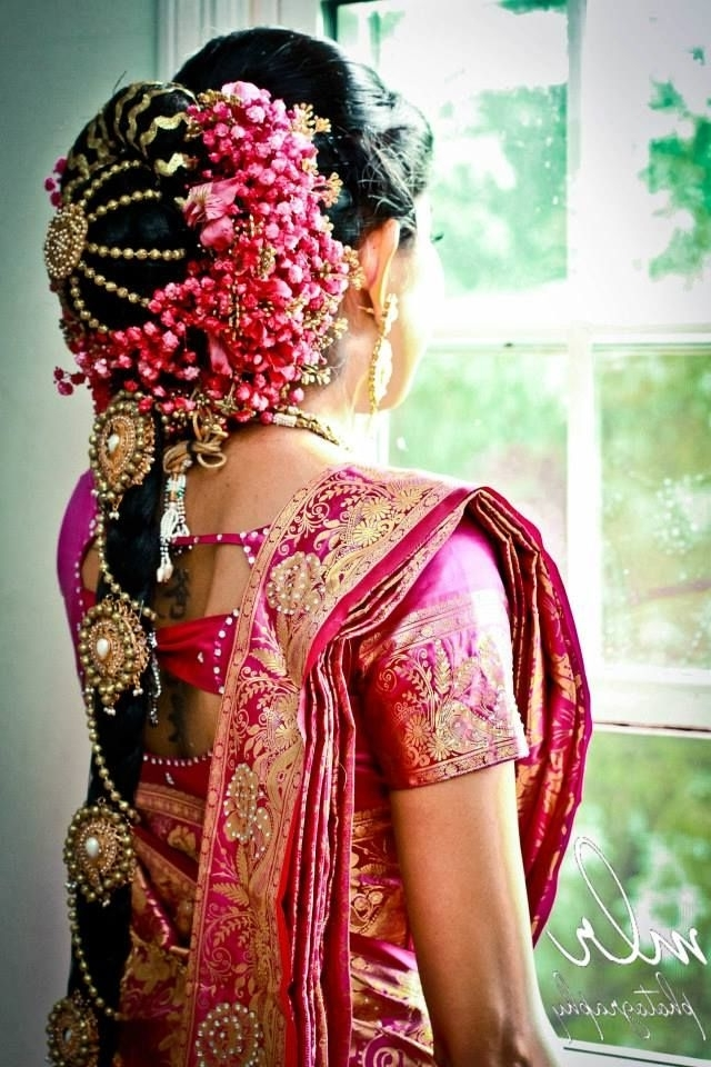 75 Best South Indian Bride & Styles Images On Pinterest | Indian With South Indian Tamil Bridal Wedding Hairstyles (View 6 of 15)