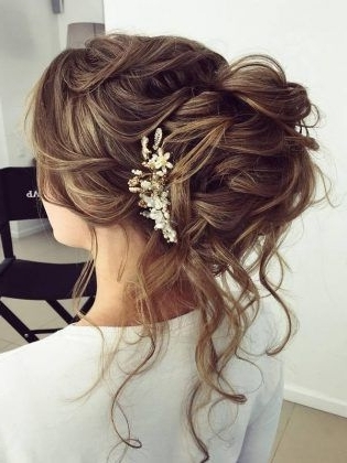 75 Chic Wedding Hair Updos For Elegant Brides   Chongos, Half Updo Inside Hair Up Wedding Hairstyles (View 10 of 15)