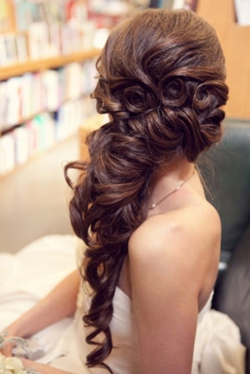 75 Wedding Hairstyles For Every Length | Pinterest | Prom Hair Regarding Wedding Hairstyles On The Side With Curls (View 14 of 15)
