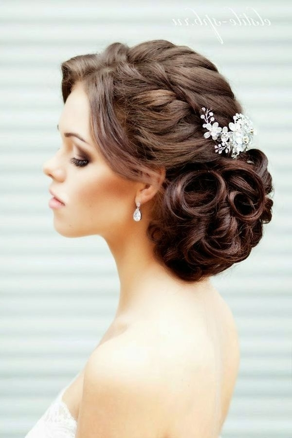77 Best Wedding Hairstyles Images On Pinterest | Bridal Hairstyles Intended For Classic Wedding Hairstyles For Medium Length Hair (View 8 of 15)